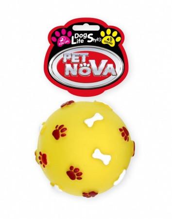 Іграшка для собак М'яч з гравіюванням Pet Nova 7.5 см