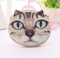 Детская сумка кот с зелеными глазками, 3D принт, плюш-велюр