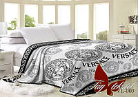 Плед 200х220 велсофт (микрофибра) VL003 Versace