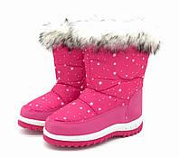 Дутики-сноубутсы розовые для девочек 33,34,36 размеры