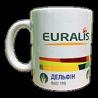 Печать логотипа на белые керамические чашки (кружки)