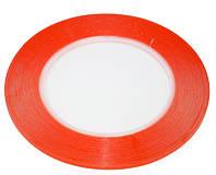 Двухсторонний скотч для приклеивания сенсоров (тачскринов), ширина 8 мм, красный