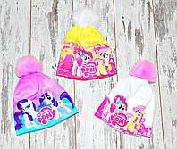 Теплые зимние шапки флисе для девочки(много вариантов) My litlle pony