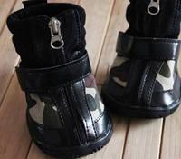 """Ботинки """"Камуфляж"""" для средних и крупных пород собак. Обувь для собак крупных пород."""