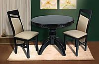 Стол обеденный круглый раскладной Престиж венге , фото 1