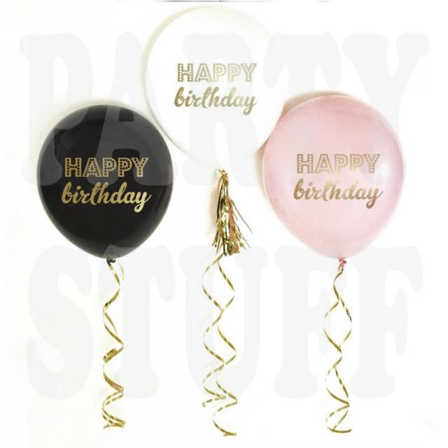 шарики happy birthday пастель ассорти