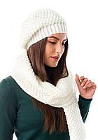 В'язаний комплект шапка і шарф