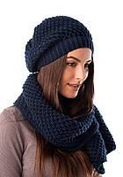 Вязаный комплект шапка и шарф, фото 1