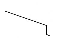 Карнизная планка Акваизол КП-1 (зеленая)