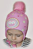 Теплые зимние шапки флисе для девочек(много вариантов)