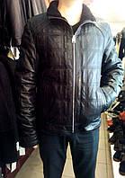 Мужская натуральная дубленка на молнии с декоративными строчками (стеганая)