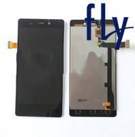 Дисплейный модуль (дисплей + сенсор) для Fly IQ453 Quad Luminor, черный, оригинал