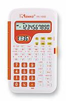 Кишеньковий Калькулятор Kenko KK-105B, 10 цифр, годинник Помаранчевий