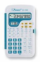 Кишеньковий Калькулятор Kenko KK-105B, 10 цифр, годинник Бірюзовий