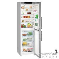 Холодильники и морозильные камеры Liebherr Двухкамерный холодильник с нижней морозилкой Liebherr CNef 3915 Comfort NoFrost (А++) серебристый