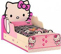 """Детская кровать+ящики """"Хело Китти"""" с рисунком"""