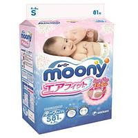 Подгузники Moony S (4 - 8 кг) 81 шт.