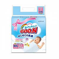 Подгузники GOO.N для новорожденных, размер SS (до 5 кг) на липучках, унисекс, 22 шт.