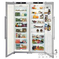 Холодильники и морозильные камеры Liebherr Комбинированный холодильник Side-by-Side Liebherr SBSes 7253 Premium BioFresh NoFrost (А++) серебристый