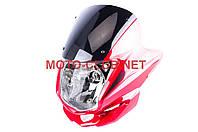 Обтекатель на мотоцикл  Zongshen, Lifan 125/150   (mod:3, с фарой)   (красный)