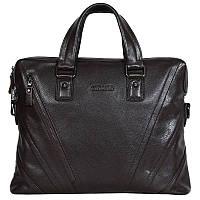 42ae64851b25 Мужская кожаная сумка для ноутбука коричневая Tofionno TF005115-821