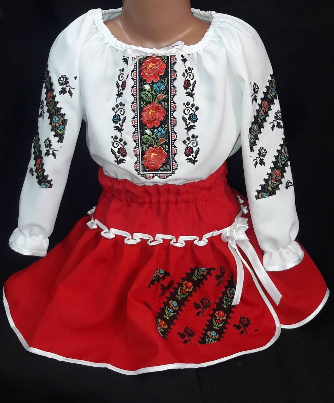 Детский вышитый костюм Зорянка