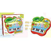 Детская музыкальная игрушка пианино «Яблоко» 2216A-37