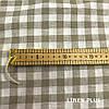 Лляна тканина в клітку 100% льон колір 1/33, фото 3
