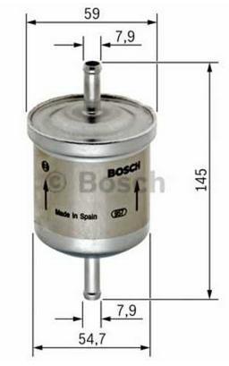 Фильтр топлива Chevrolet Aveo 1.4 03-06/ 1.2 08-/1.5 03-07/1.4 08-