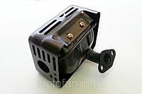 Глушитель мотоблока в сборе (малое колено) двигатель 168F, фото 1