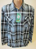 Байковые рубашки для мужчин большого размера.