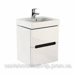 Шкафчик под умывальник MODO 50*65*40 см белый глянец/венге (пол.)