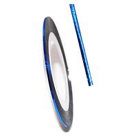 Лента для декора ногтей, синяя