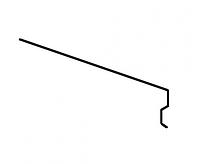 Карнизная планка Акваизол КП-2 (зеленая)