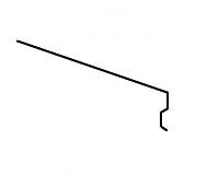 Карнизная планка Акваизол КП-2 (серая)