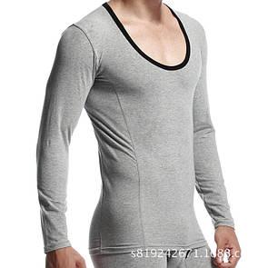 Нательная кофта под рубашку или свитер серого цвета Seobean. Артикул: TB05