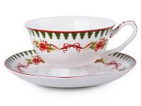 """Фарфоровая чайная пара """"Новогодняя коллекция"""" Lefard 924-129"""
