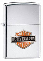 Зажигалка Zippo Harley Davidson Bar and Shield High Polished Chrome