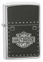 Зажигалка Zippo Harley Davidson Saddle Bag Emblem Brushed Chrome