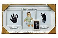"""Мультирамка с отпечатком ручки и ножки  """"Мой малыш"""" (40 х 22 см)"""