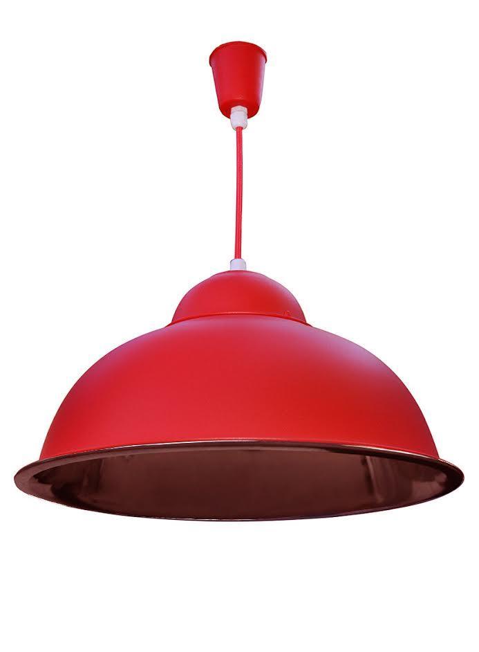 Красный подвесной светильник IP20