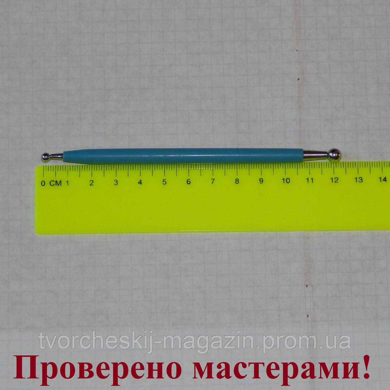 Стек металлический с шариками миниатюрный (булька) 6 мм – 4 мм