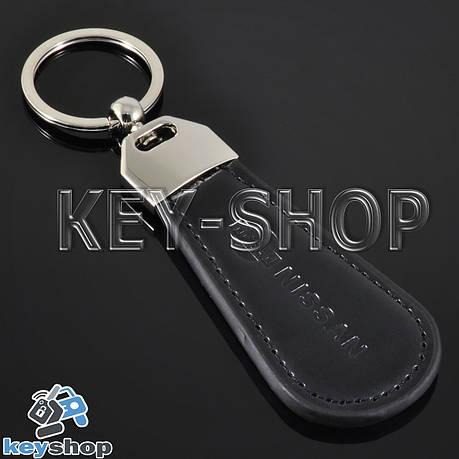 Брелок для авто ключей Nissan (Ниссан) кожаный, фото 2
