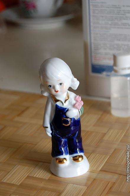 Взял я из серванта керамическую фигурку – она будет нашей моделью под свечу.