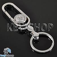 Металлический брелок с карабином для авто ключей Пежо (Peugeot)