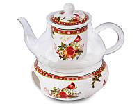 """Фарфоровый заварочный чайник """"Новогодняя коллекция"""" Lefard 924-135"""