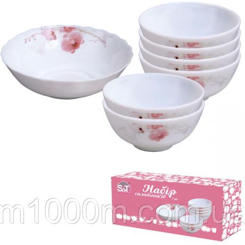 Набор салатников 7шт (1шт-8;6шт-4,5) Розовая орхидея 30056-61099