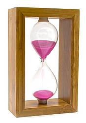Часы песочные в бамбуке