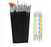 Набор кистей для росписи дизайна  15 шт, черные+ набор дотсов