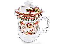 """Фарфоровая чашка заварочная """"Новогодняя коллекция"""" Lefard 924-137"""